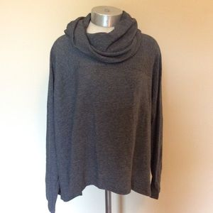 Eileen Fisher imported fabric cowl neck sweater